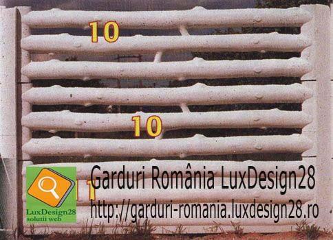Gard de beton ieftin imprejmuire model ramuri copac