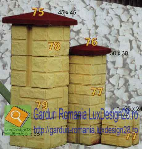 Stalpi balustri beton, stalpi garduri, stalpi vii beton, produse constructii