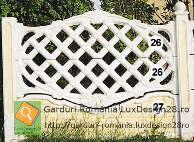 Oferta de gard ornamental cu model in romburi imprejmuiri