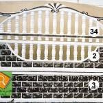 Gard alb cu negru model gard 3 placi