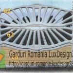Gard ornamental de lux, garduri ornamentale beton