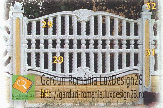 Placi prefabricate beton gard ornamental, placi si stalpi
