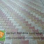 Casa gradina pavaj prefabricate beton trei culori