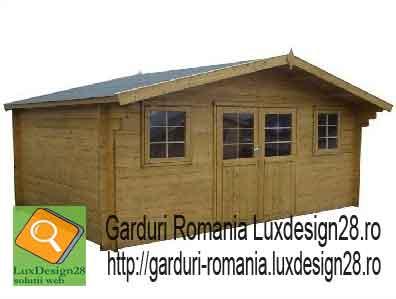 Mobilier terase si gradini, casute si adaposturi lemn - constructii lemn - Casa vacanta lemn doua camere plus hol
