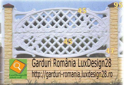 Model gard imprejmuire proprietate culori alb si galben