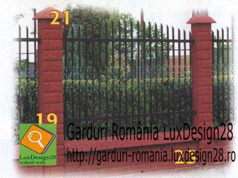 Gard culoare viisinie si fier forjat