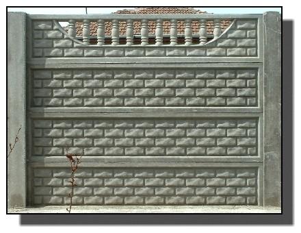 Gard beton armat compactat realizat prin vibrare Preturi garduri / imprejmuire proprietate