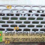 Gard placi beton dreptunghiuri, culori
